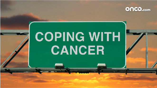 Picture of a signboard with the title 'Coping with lung cancer'