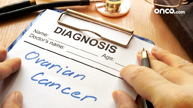 Photograph representative of ovarian cancer diagnosis confirmation inside hospital