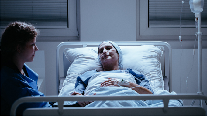 Picture of a patient suffering from pancreatic cancer