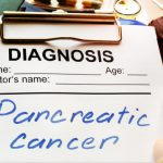 Picture of a notepad with the diagnosis as pancreatic cancer