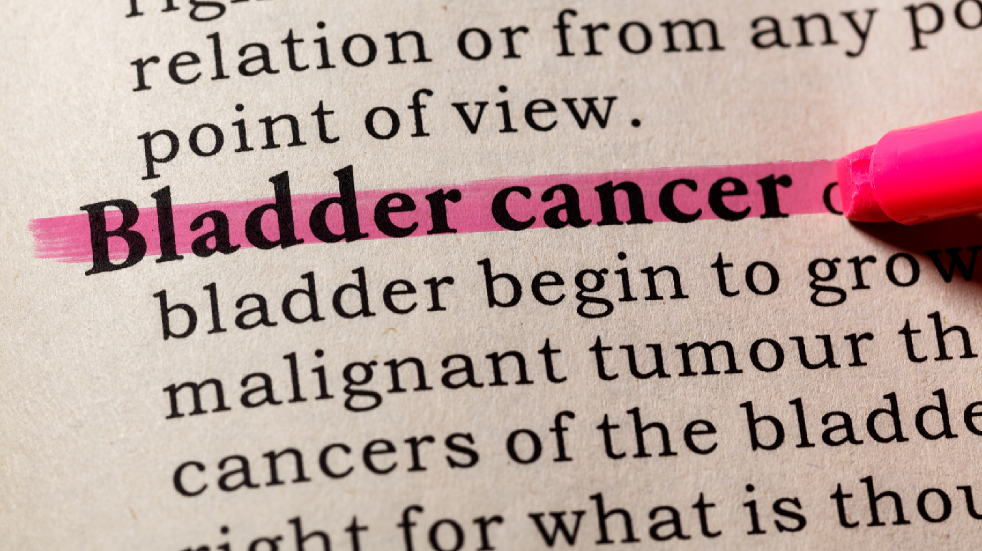 Picture of bladder cancer being highlighted with a highlighter