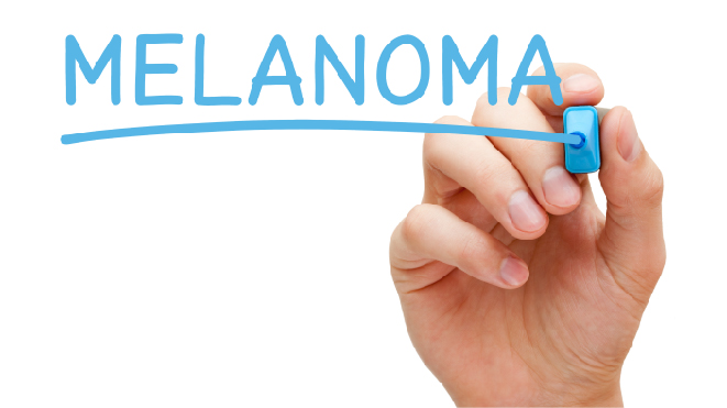 Picture of a person writing Melanoma