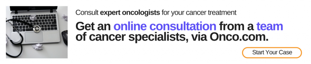 Online consultation with expert oncologist