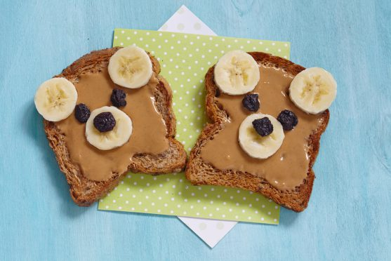 cancer diet for kids : Peanut butter on bread