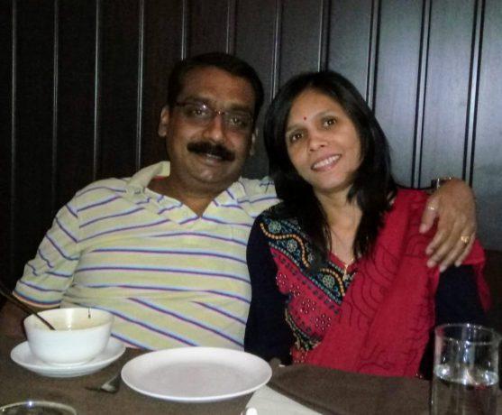 कैंसर होने से पहले अपनी पत्नी के साथ उमेश